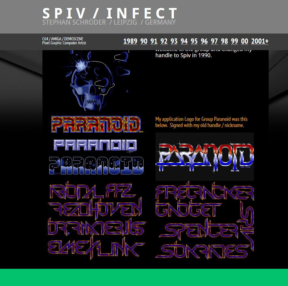 Spiv – Arbeiten 1990 – 2000